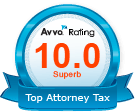 Avvo Rating - 10.0 Top Attorney Tax Badge