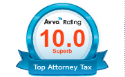 Avvo Rating 10.0 Superb Top Attorney Tax